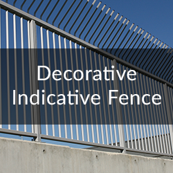 decorative indicative fence