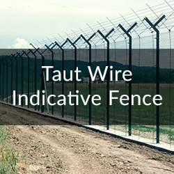 taut wire indicative fence