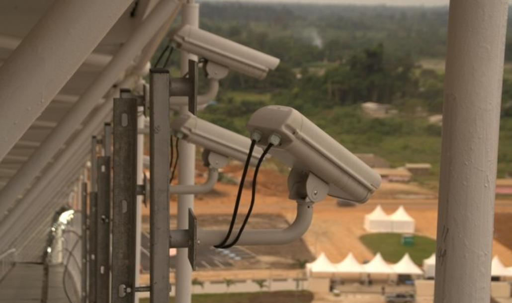 Camera installed in main stadium at Africa Cup in Gabon