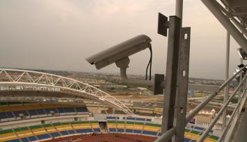 Africa Cup Stadium with Megapixel Camera