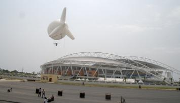 Africa Cup Gabon - Balloon for traffic control and surveillance