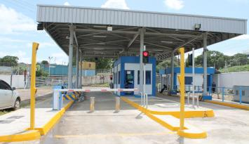 Mombasa Port Exit Gate with Bollards-Card Readers-Boom Barriers and LCR